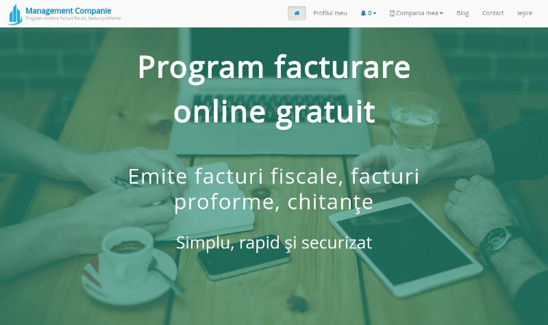 Program facturare online Management Companie